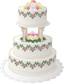 Roses Wedding Cake Clipart