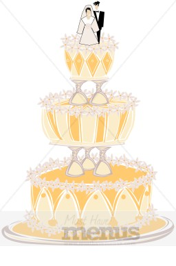 Art Deco Tiered Cake Stand
