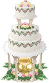 Champagne Wedding Cake Clipart