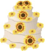 Floral Wedding Cake Clipart