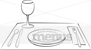 table setting clipart cooking images rh musthavemenus com table setting clipart black and white table place setting clipart