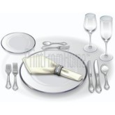 Formal Table Setting Clipart
