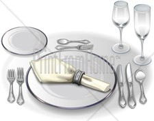 Formal Table Setting Clipart  sc 1 st  MustHaveMenus & Formal Table Setting Clipart | Fine Dining Clipart