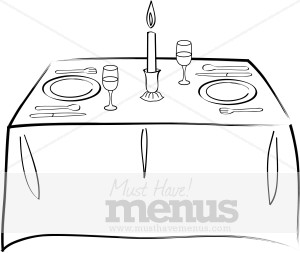 Formal Dining Room Tables Clip Art