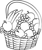 Basket of Fruit Clipart