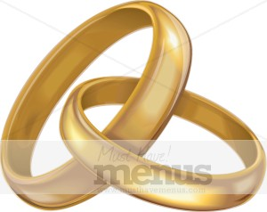 Gold Rings Clipart Wedding Clipart