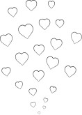 Shower of Hearts Clipart