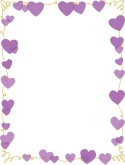 Purple Heart Scribble Frame