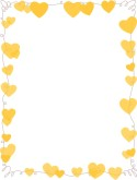Yellow Hearts Whimsical Border