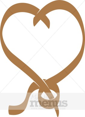 Brown Pretzel Heart Holiday Clipart Archive