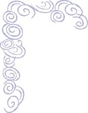 Purple Stylized Swirls Frame