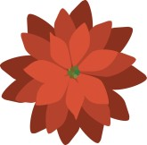 Poinsettia Christmas Clipart