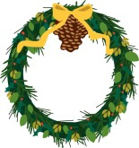 Xmas Wreath Clipart