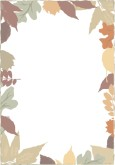 Multicolored Fall Leaves Frame