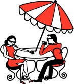 Cafe Couple Clipart