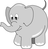 Cartoon Elephant Clipart