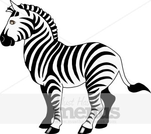 Zebra Clipart   Kids Menu Clipart