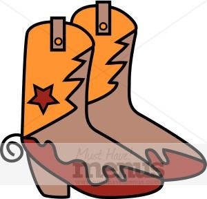 Kids Cowboy Boots Clipart