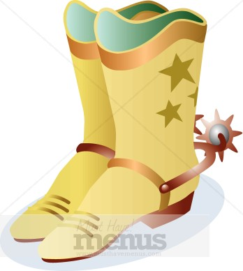 Leather Cowboy Boots Clipart
