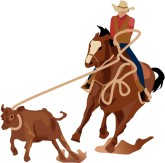 Calf Roping Clipart