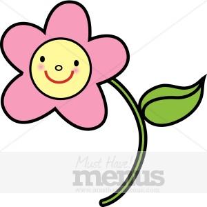 Pink Flower Clipart | Kids Menu Clipart