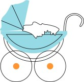 Baby Buggie Clipart