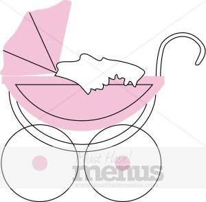 Stroller Clipart | Kids Menu Clipart