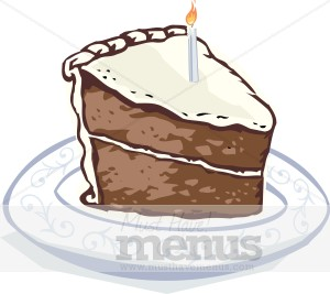Chocolate Birthday Cake Clipart