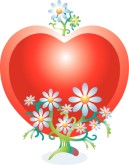 Daisies and Heart Valentine Image