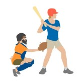 Playing Baseball Clipart