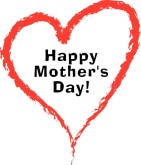 Happy Mother's Day! in Red Heart