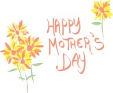 Cute Happy Mother's Day with Flowers