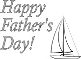 Sailboat Happy Father's Day Announcement