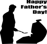 Happy Father's Day Grilling SIlhouette