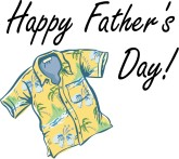 Happy Father's Day with Yellow Tropical Shirt