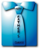 Blue Happy Father's Day Shirt and Tie