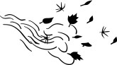 Blowing Leaves Clipart