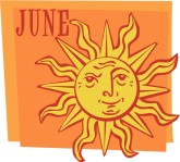 June Calendar Clipart