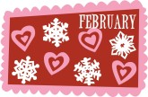 February Snowflakes and Hearts