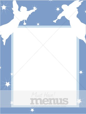 christening reception with angel cut outs christmas menu borders