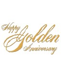 Rustic Happy Golden Anniversary