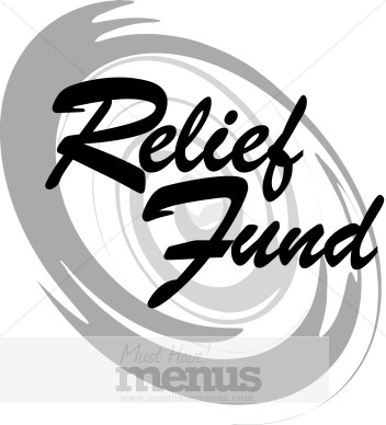 Relief Fund With Hurricane Symbol Menu Icons