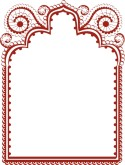 Vintage Red Frame Border