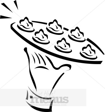 Passed Appetizers Clipart Catering Clipart