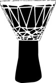 Tribal Drum Clipart