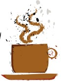 Coffee Spill Clipart