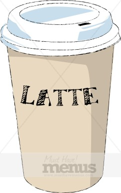 Latte Clip Art Coffee Clipart Rh Musthavemenus Com Cup Starbucks