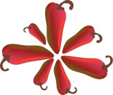 Red Chilis Clipart