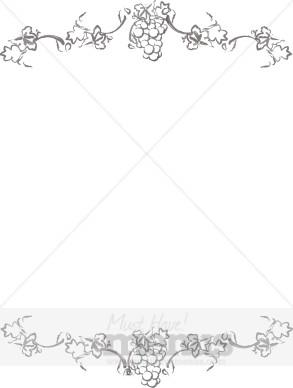 Full Page Clipart Border Menu