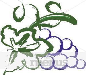 Purple Grapes Clipart Wine Clipart